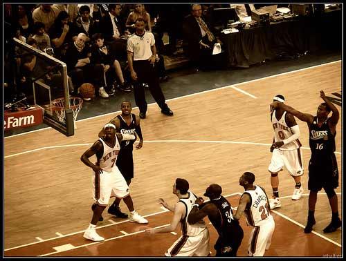 Philadelphia 76ers vs. New York knicks.