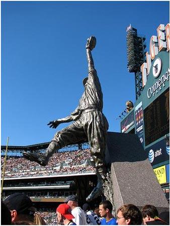 Al Kaline Statue at Comerica Park, Detroit.