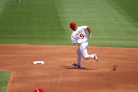 Albert Pujols Rounds Second.