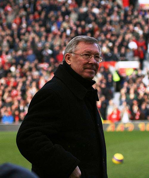 Alex Ferguson manager of Manchester United.