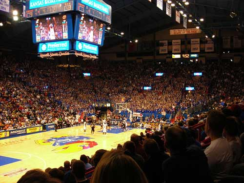 Allen Fieldhouse during the KU Oklahoma State game during the 2006-2007 Season.
