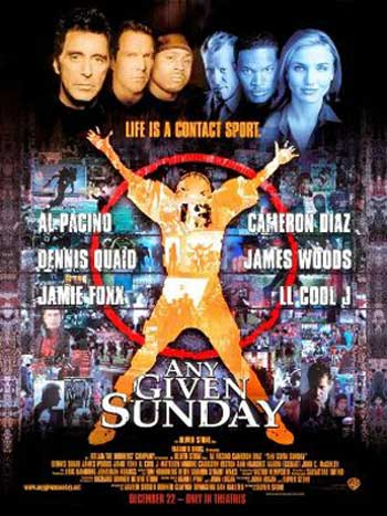 Film poster for Any Given Sunday.