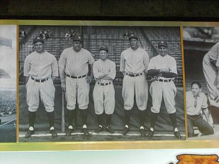 Babe Ruth and team mates.
