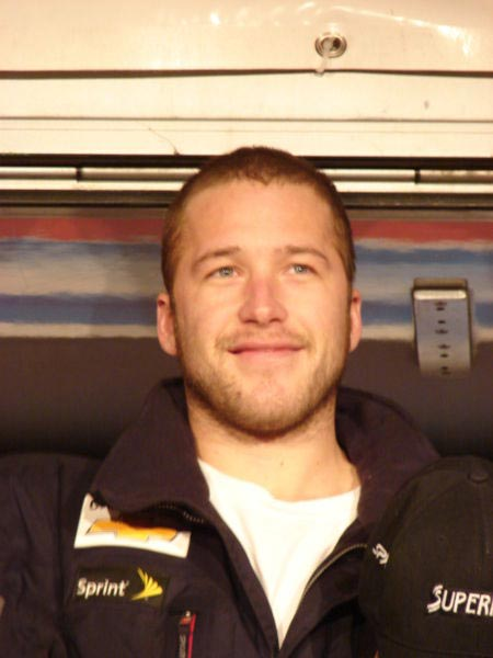 Bode Miller during the price giving ceremony.