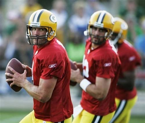Green Bay Packers quarterbacks from Brett Favre.