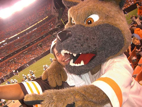 Browns mascot.