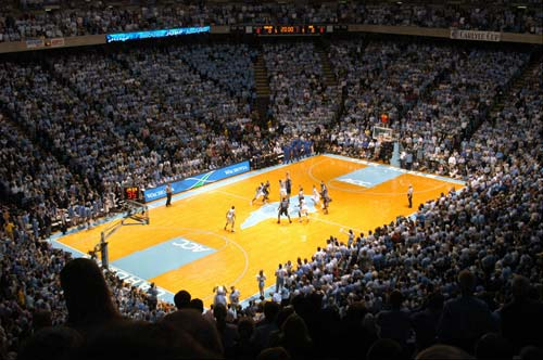 Tip-off of Duke Blue Devils vs. North Carolina Tar Heels men's basketball.