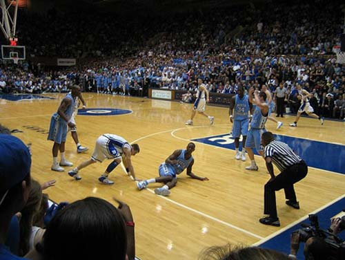 North Carolina Tar Heels vs. Duke Blue Devils men's basketball.