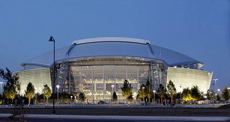 West side of new Dallas Cowboys Stadium.