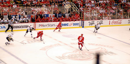 Detroit Red Wings vs Pittsburgh Penguins.