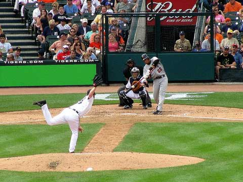 The Detroit Tigers took on the Minnesota Twins at Comerica Park in Detroit.