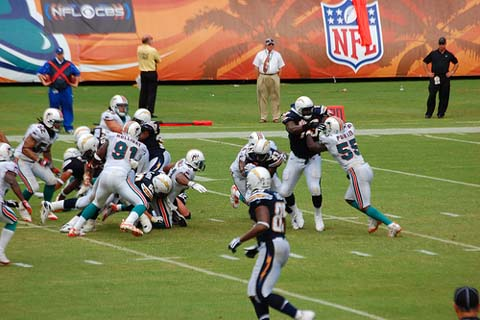 Dolphins v. Chargers in a 2008 week 5 NFL game.