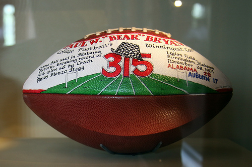 football given to Bear Bryant upon becoming the