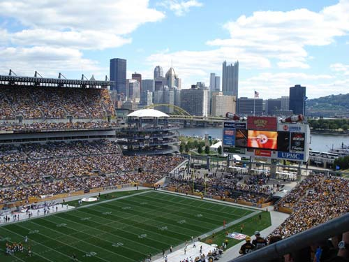 A beautiful day for football at Heinz Field.