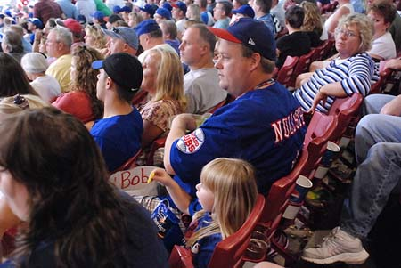 A very intense Chicago Cubs fan