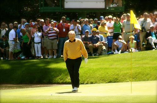 Jack Nicklaus at The Masters.