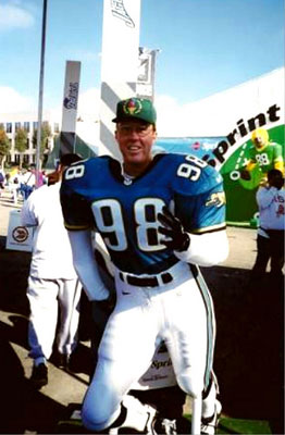 Super Bowl (Packers-Broncos) exhibit, San Diego, 1998.