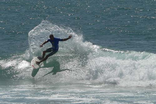 Kelly Slater at Trestles.