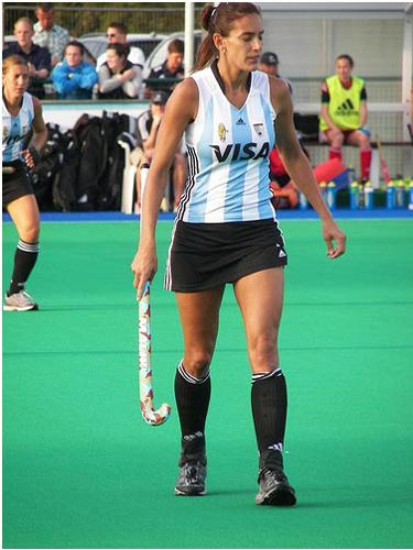 Luciana Aymar, generally recognised as the world's best field hockey player.