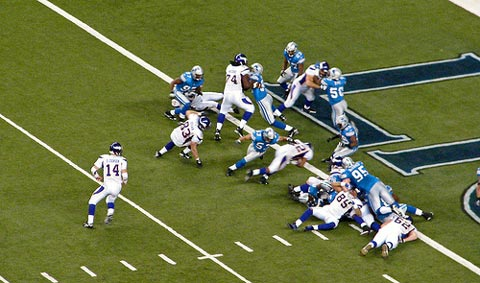 Minnesota Vikings against the Detroit Lions.