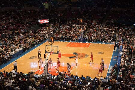 NBA Game In The Madison Square Garden, NYC.