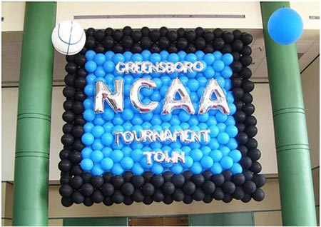 NCAA Tournament balloons.
