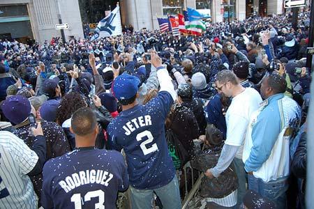 New York Yankees 2009 World Series victory parade 11/6/09, New York,NY.