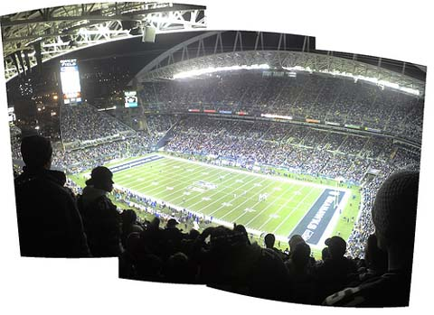 NFL Game. Seahawks vs Dallas (playoffs).
