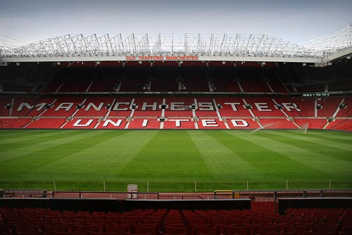 Old Trafford football stadium.