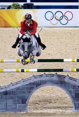 Equestrian Jumping at the 2008 Beijing Olympics.