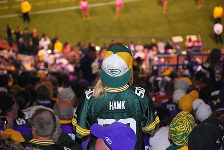 Packers Fans during Green Bay Packers vs. Minnesota Vikings.