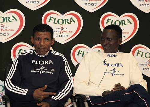 Haile Gebrslassiie and Paul Tergat.
