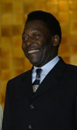 Greatest soccer player Pele.