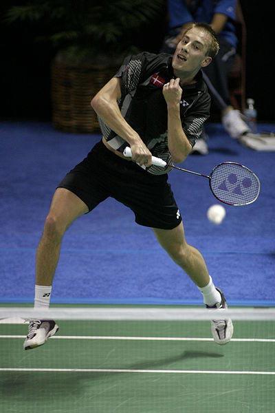 The danish badminton player Peter Gade.