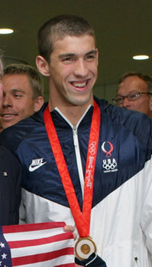 Michael Phelps at the 2008 Beijing Olympics.
