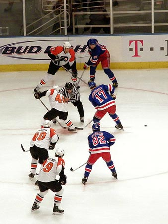 Philadelphia Flyers and the NY Rangers.