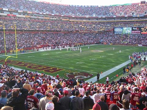 Washington Redskins vs. New Orleans Saints.