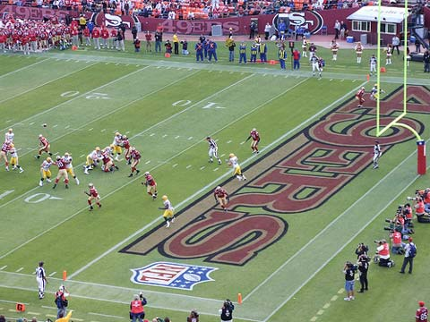 Packers at 49ers pre-season game.