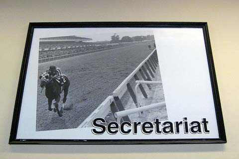 Secretariat won the Belmont Stakes.