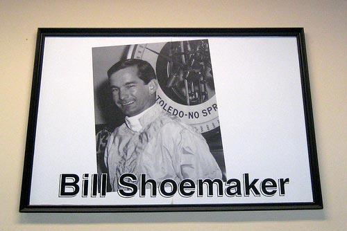 NY Long Island Belmont Park Bill Shoemaker.