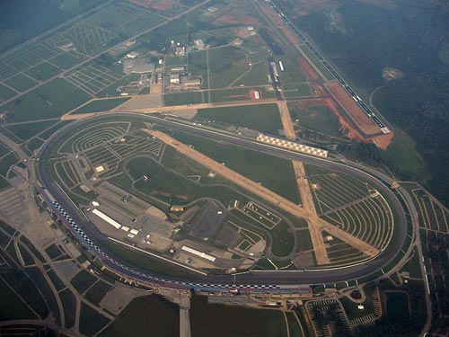 Aerial view of Talladega Superspeedway.