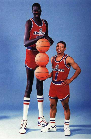 Tallest NBA Players Manute Bol