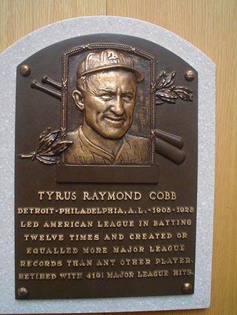 Hall of Fame baseball player Ty Cobb.